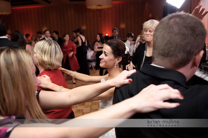 conga line at wedding