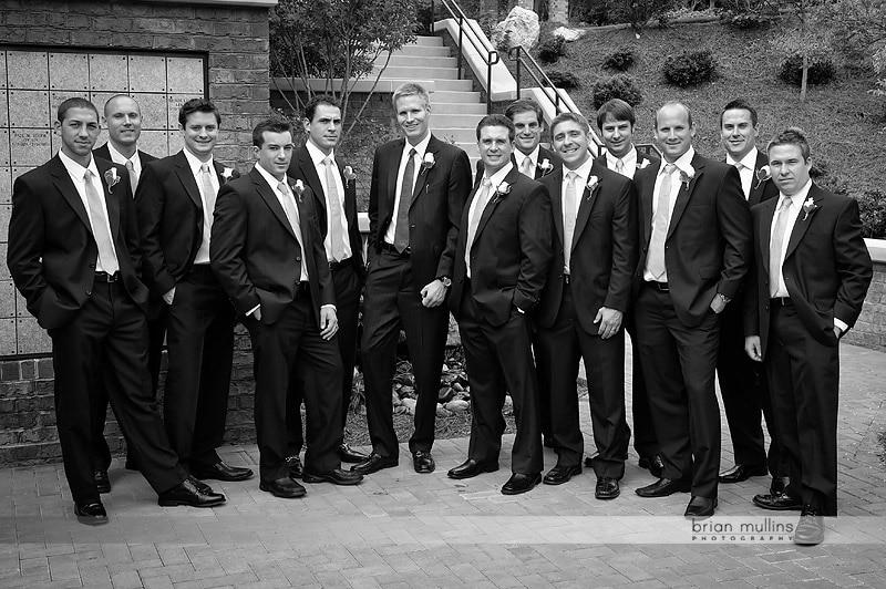 b&w wedding portraits