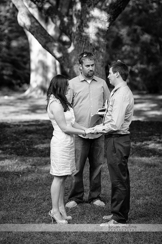 wedding rehearsal at Coker Arboretum