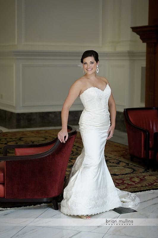 state club bridal portrait