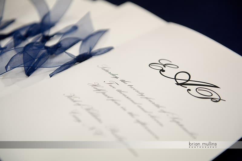 Wedding invitation with bow