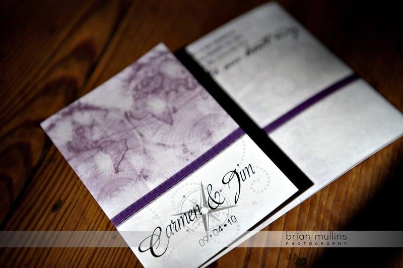 travel themed wedding program