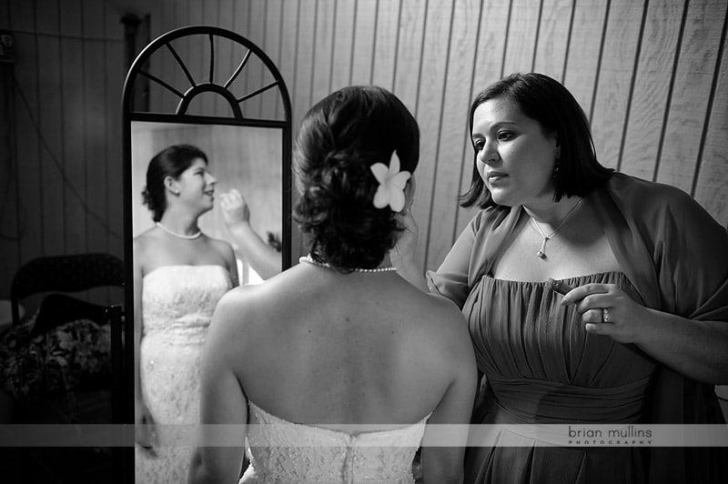preperations in bridal suite
