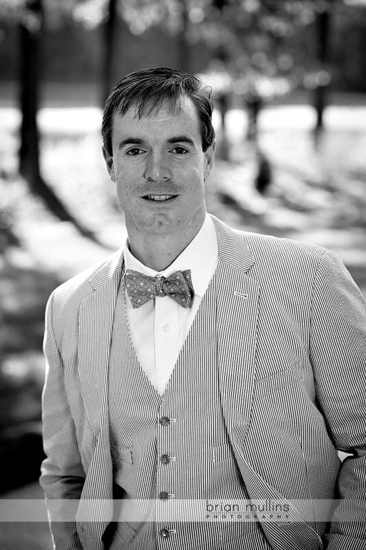 groom portrait at Angus Barn Pavilion