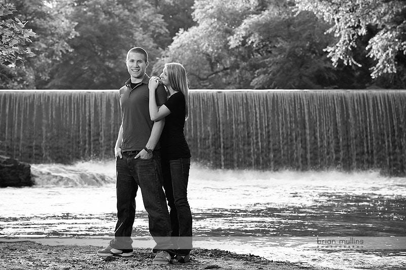 engagement photo at waterfall