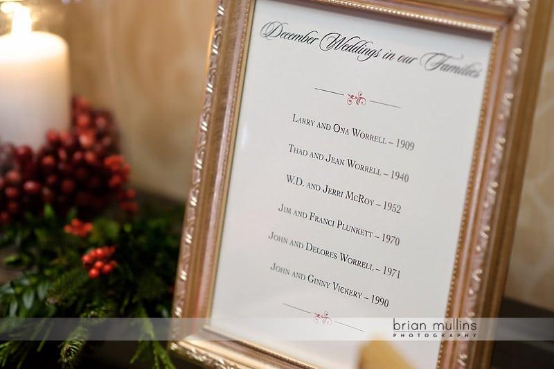 wedding history for edwards family