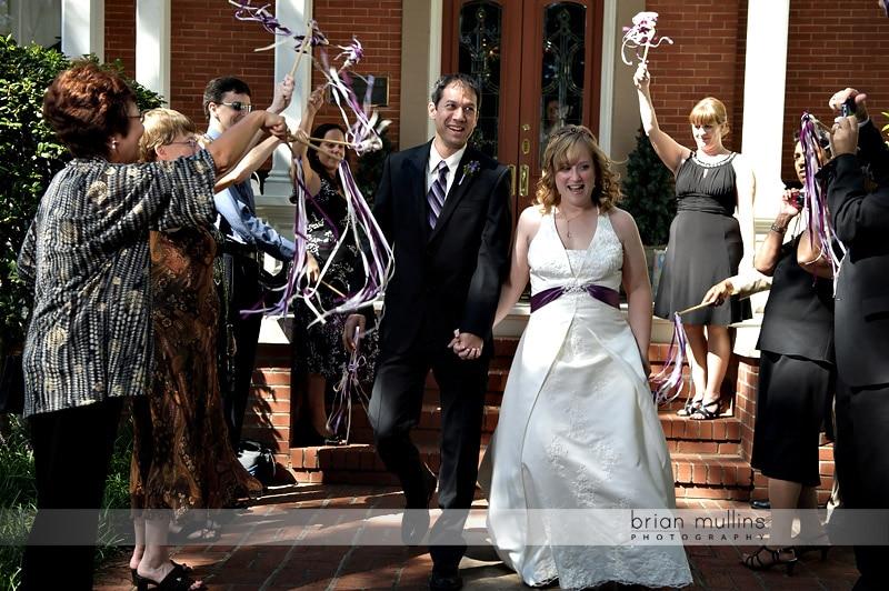 unique wedding exits