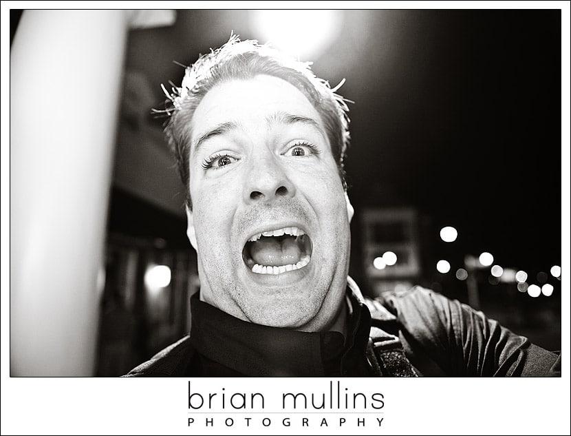 Brian Mullins at a Wedding