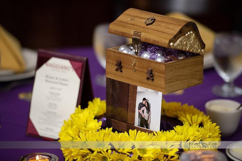 treasure chest wedding centerpiece