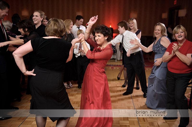 mother of bride dancing at wedding
