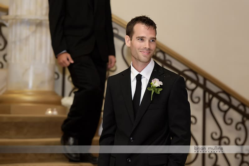 groom during wedding processional