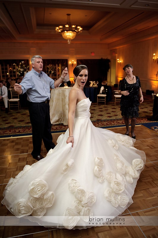 bride with gorgeous dress