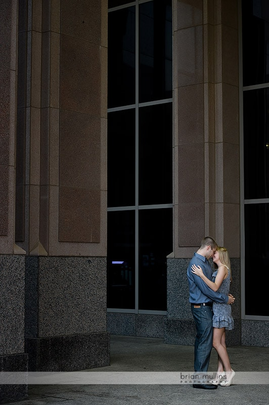 downtown raleigh engagement portraits