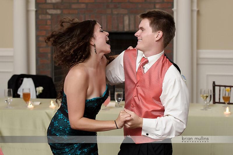 fun wedding reception picture