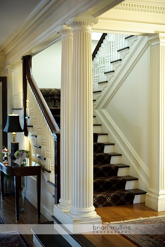 staircase at the Greystone Inn
