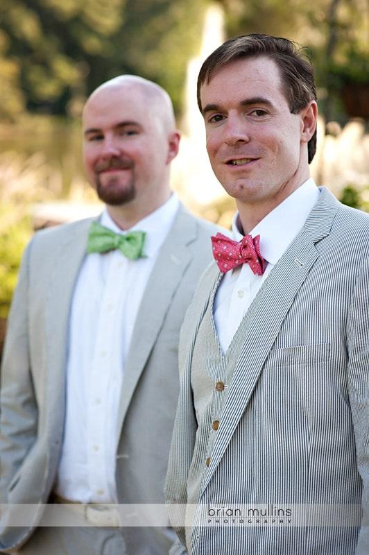 Bridal and best man at Angus Barn Pavilion