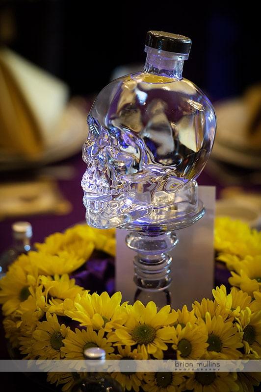 crystal skull liquor bottle