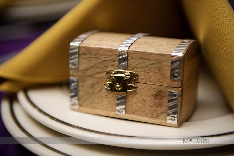 treasure chest wedding table gifts