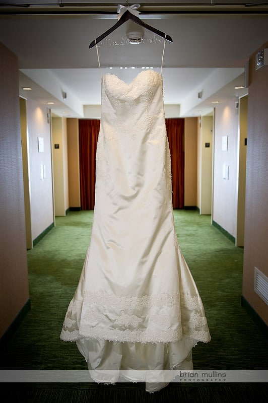 artistic wedding gown photo