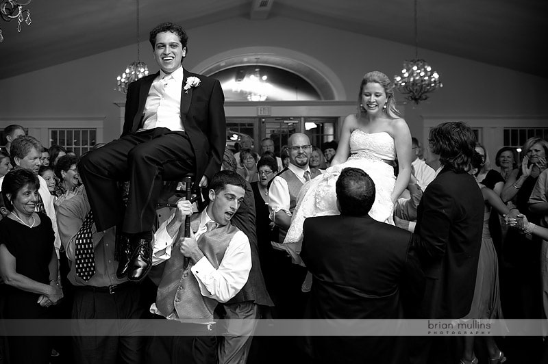 hora at wedding reception