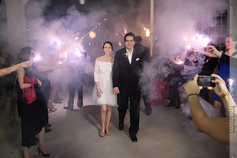 wrong sparklers on wedding exit