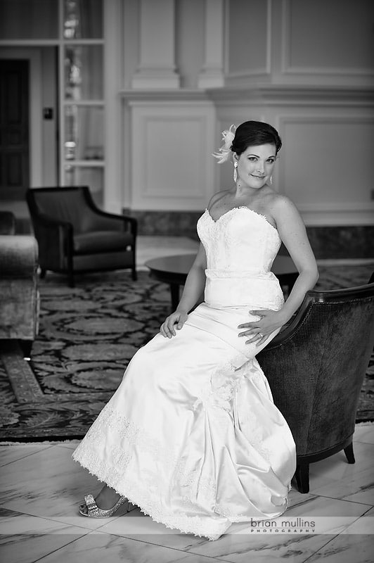 state club wedding portrait