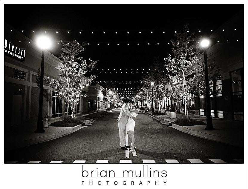 Kissing under street lights