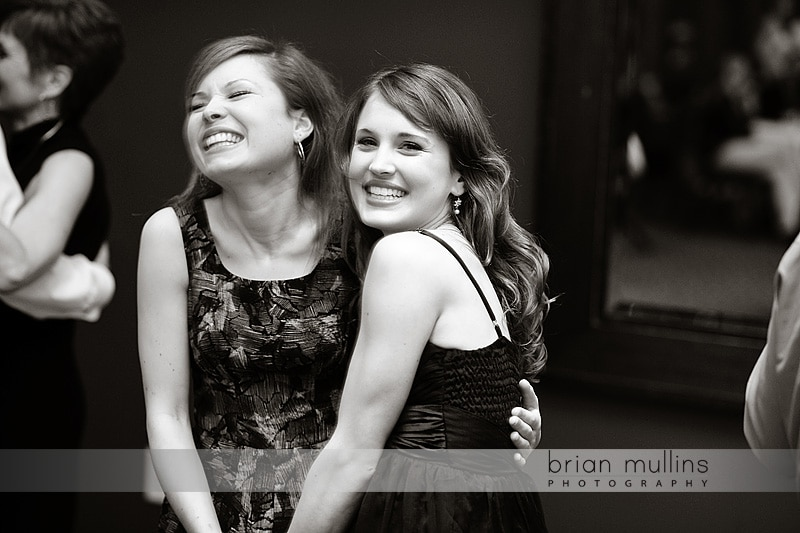 two girls dancing at Raleigh wedding reception