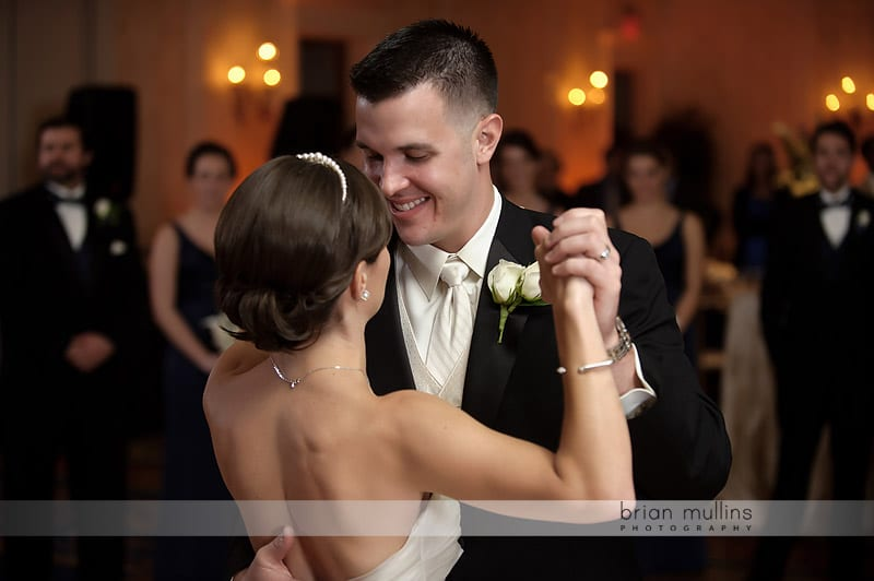 bride and grooms first wedding dance