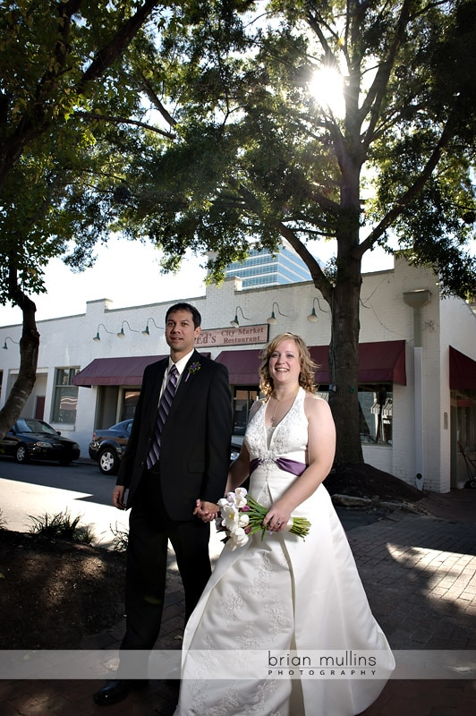 wedding portraits in downtown raleigh
