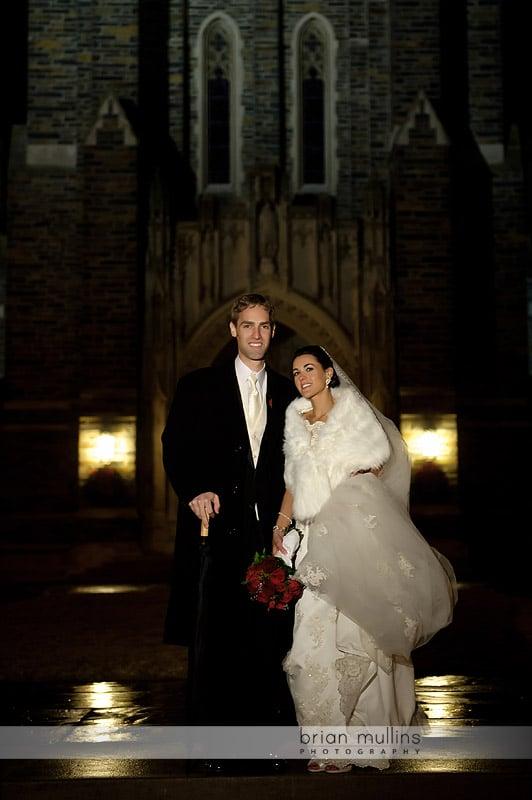 duke chapel wedding photo