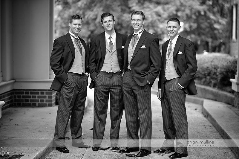groomsmen at Carolina Inn