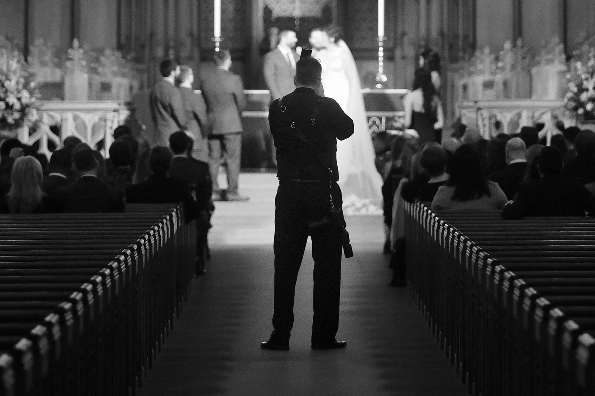brian mullins at duke chapel wedding