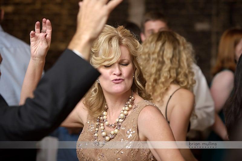 Fun wedding reception dancing photo