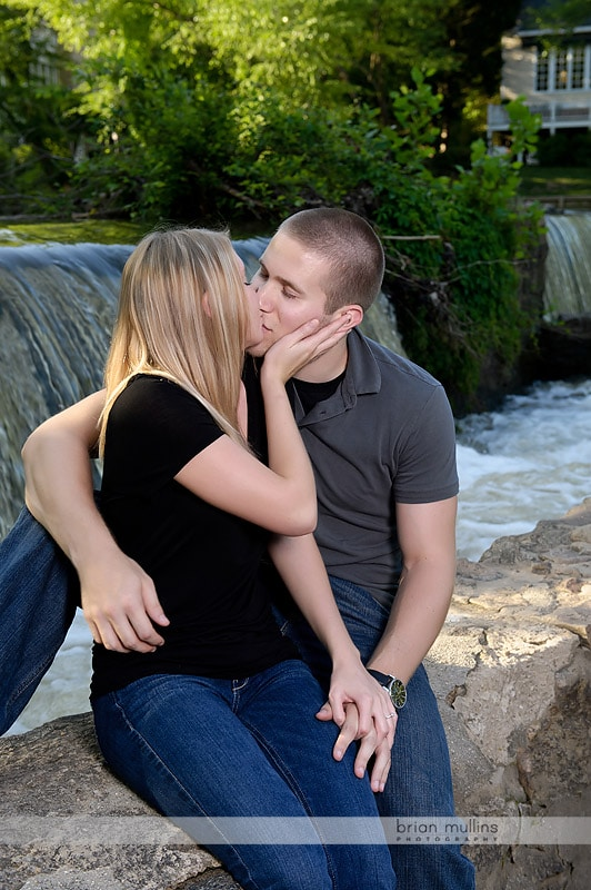engagement session at waterfall
