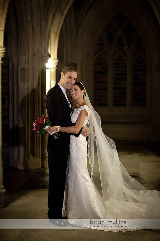 duke chapel wedding photos
