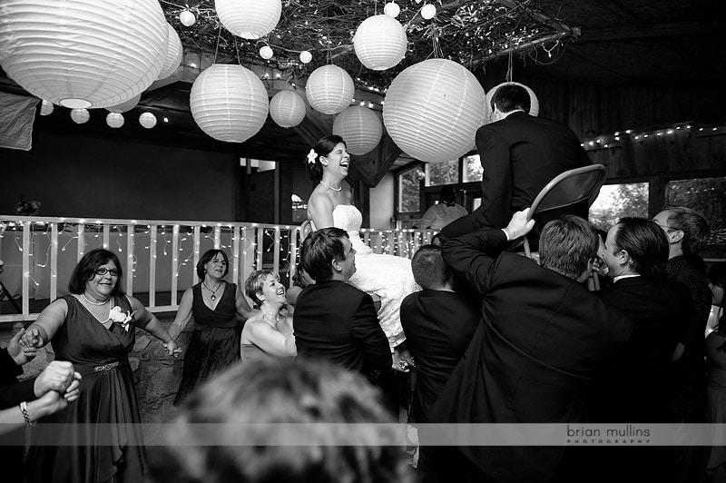 jewish hora wedding celebration