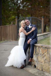 bride & groom at angus barn wedding