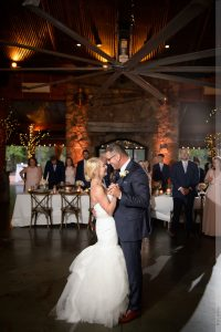 first dance at angus barn pavilion reception