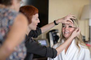 the makeup culture doing brides makeup