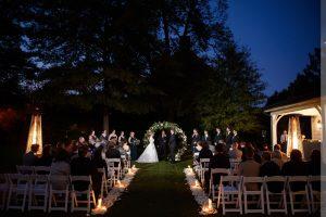 merrimon-wynne house wedding ceremony at night