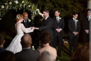 merrimon-wynne house wedding ceremony on lawn