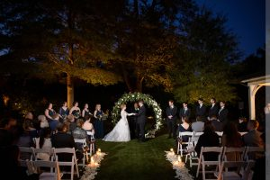 evening merrimon-wynne house wedding ceremony
