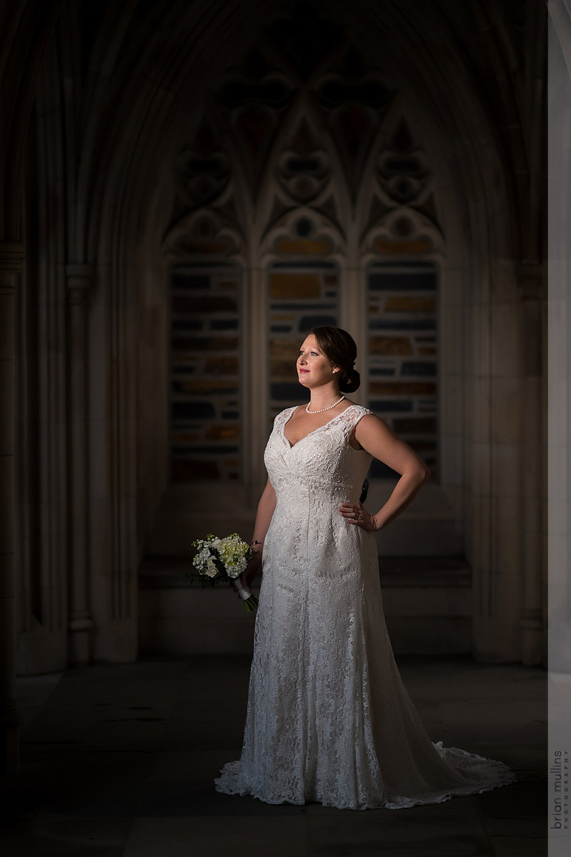 Duke Chapel Bridal Portrait | Lauren & Trey