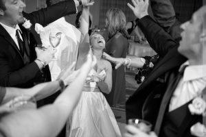 bride dacing at carolina inn wedding