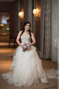 indoor umstead hotel bridal portraits