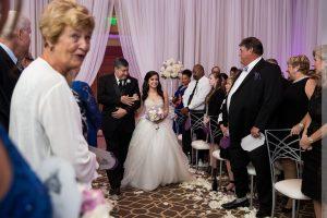 indoor wedding ceremony at umstead hotel