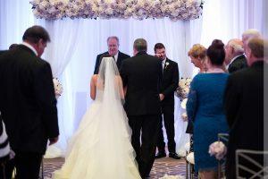 indoor wedding at umstead hotel