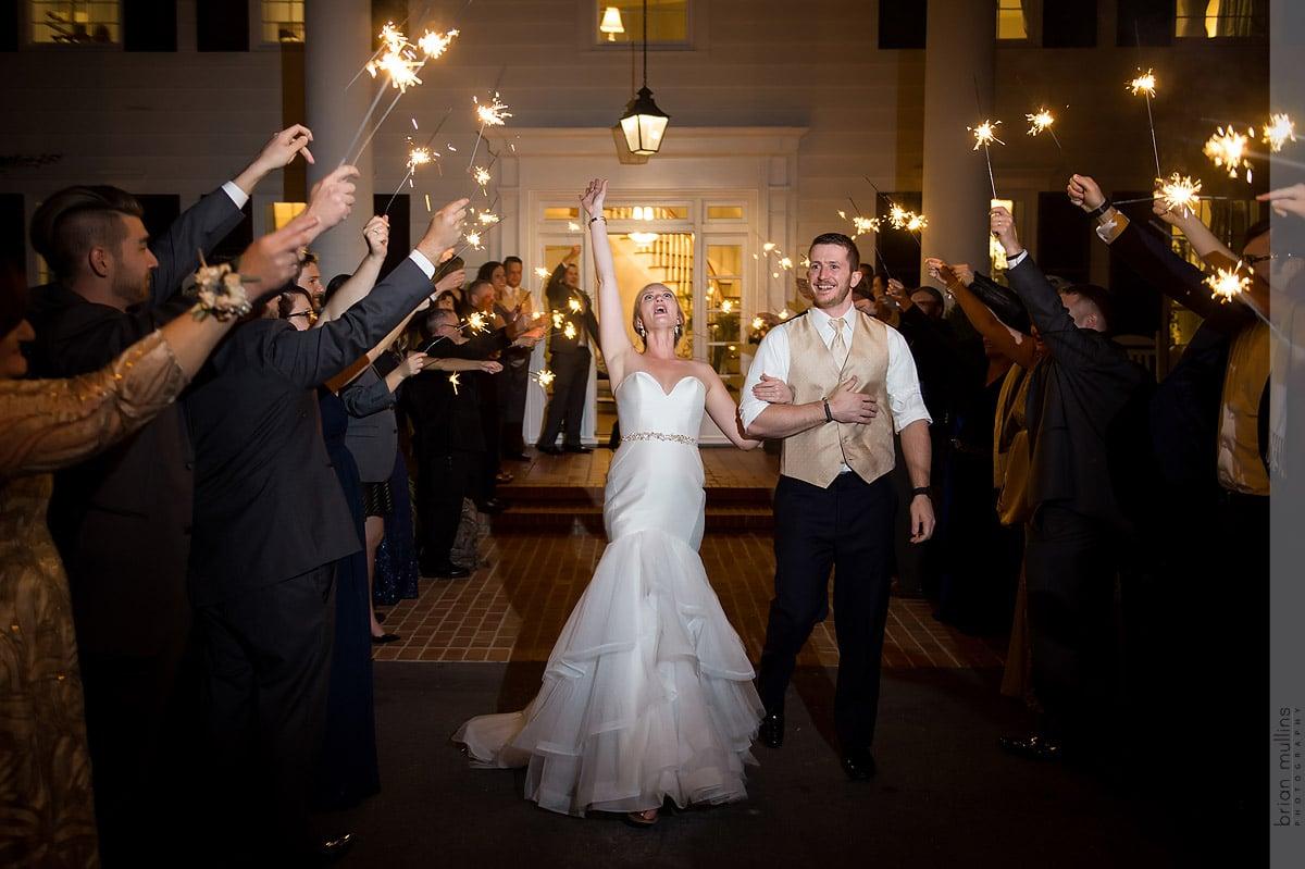 wedding sparkler exit in Raleigh
